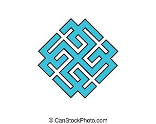 Svarozhich is a symbol of the Slavic god. Vedic symbol. Vector illustration