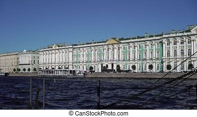 State Hermitage building view from river Neva