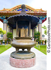 Chinese Temple Joss Stick Urn