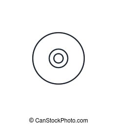 compact disk, CD thin line icon. Linear vector symbol -...
