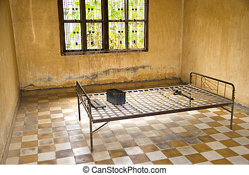 Khmer Rouge Torture Room - This is the actual room and the...