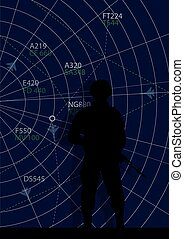 Serviceman and the information panel of operations [].eps -...