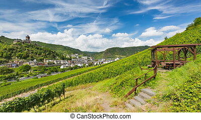Cochem And Moselle Valley Timelapse, Germany - Summer...