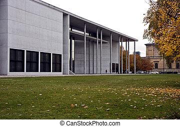 Modern architecture - Pinakothek der Moderne museum exterior...