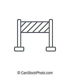 fence construction thin line icon. Linear vector symbol -...