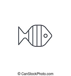 aquarium fish, goldfish thin line icon. Linear vector symbol...