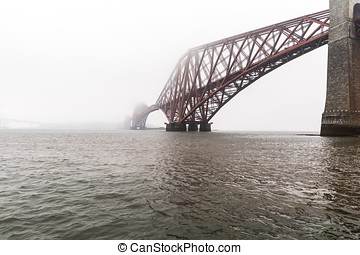Forth bridges in Edinburgh, Scotland, UK