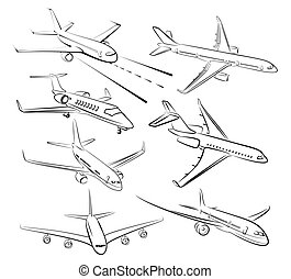 Sketches of planes.