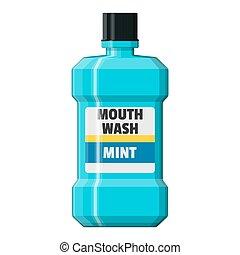 Mouthwash plastic bottle. Oralcare equipment. - Mouthwash...