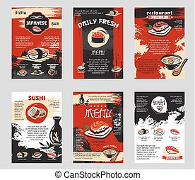 Vector poster for Japanese sushi bar or restaurant - J a p a...