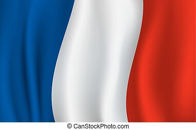 Vector flag of France. French national symbol