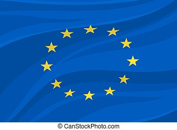 European Union flag. Vector Europe national symbol -...