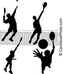 tennis serve - vector illustration of tennis serve