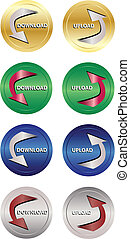 download and upload icon buttons