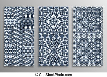 Set universal different vector seamless patterns (tiling). Endless texture can be used for wallpaper, pattern fills, web page background, surface textures. Modern design ornament