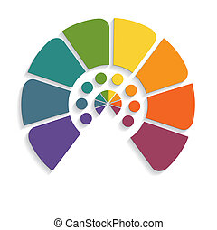 chart semicircle for infographics eight positions - Template...