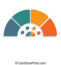 chart semicircle for infographics 4 positions - Template...