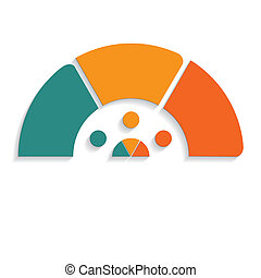 chart semicircle for infographics 3 positions - Template...