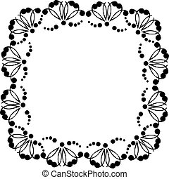 Decorative frame with patterns