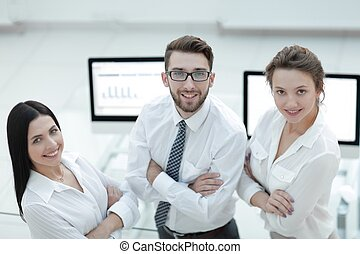 close-up of a successful business team.