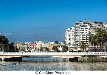 Bridge and Estuary in Vina del Mar - View of a bridge...