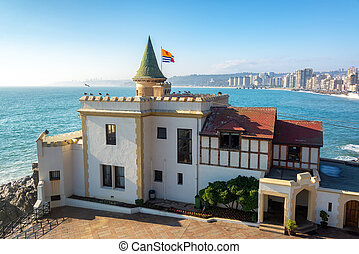 Wulff Castle and Ocean - View of Wulff Castle overlooking...