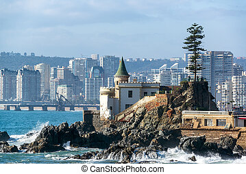 Wulff Castle in Vina del Mar - View of Wulff Castle with...