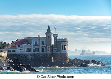 Wulff Castle and Tanker Ship - Wulff Castle and a tanker...