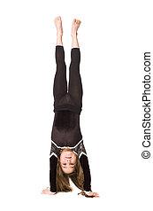 jeune, girl, gymnastique