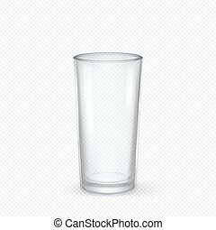 Vector realistic transparent empty glass closeup isolated on...