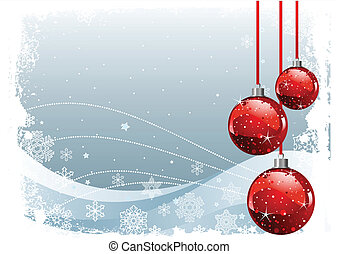 Red Christmas Balls - Red Christmas Balls on Christmas...