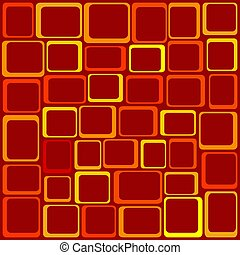 Funky Squares Illustration -