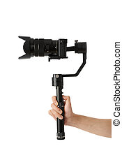 Stabilization System with 3-axis gimbals & Mirrorless Camera