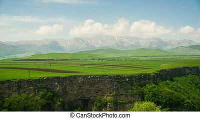 Landscapes and Mountains of Armenia. Time Lapse. Timelapse...