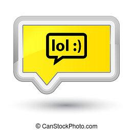 LOL bubble icon prime yellow banner button - LOL bubble icon...