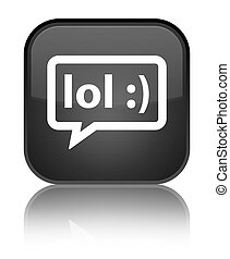 LOL bubble icon special black square button - LOL bubble...
