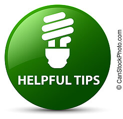 Helpful tips (bulb icon) green round button