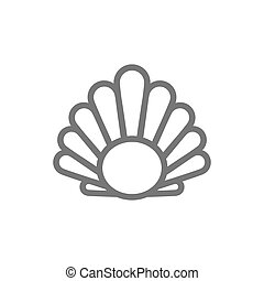Simple perl in a shell line icon. Symbol and sign vector...