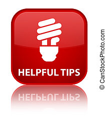 Helpful tips (bulb icon) special red square button
