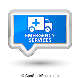 Emergency services prime cyan blue banner button - Emergency...