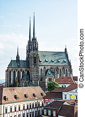 Cathedral of St. Peter and Paul, Brno, Czech republic -...
