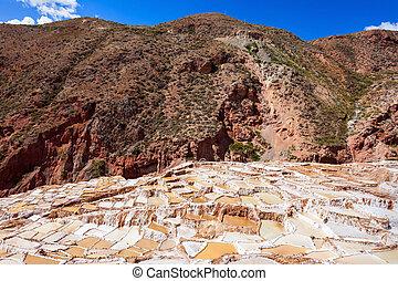 Salinas de Maras - The salt evaporation pond at Maras...