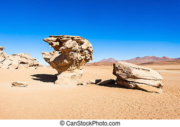 Stone Tree, Altiplano - Stone Tree is a natural monument in...
