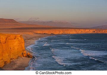 Paracas - Beautiful coastline landscapes in Paracas National...