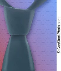 Vector Tie Icon. Realistic 3D Vector Neck Tie on Moustache Pattern Background