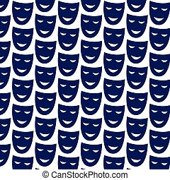 pattern background theatrical mask icon