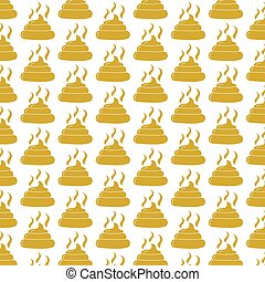 Pattern background Feces icon