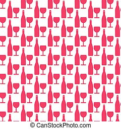 Pattern background Wine glass with bottle icon