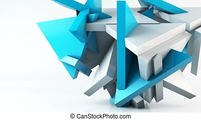 Geometric shape triangle motion background. Computer...