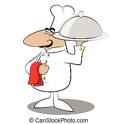 Funny chef cook